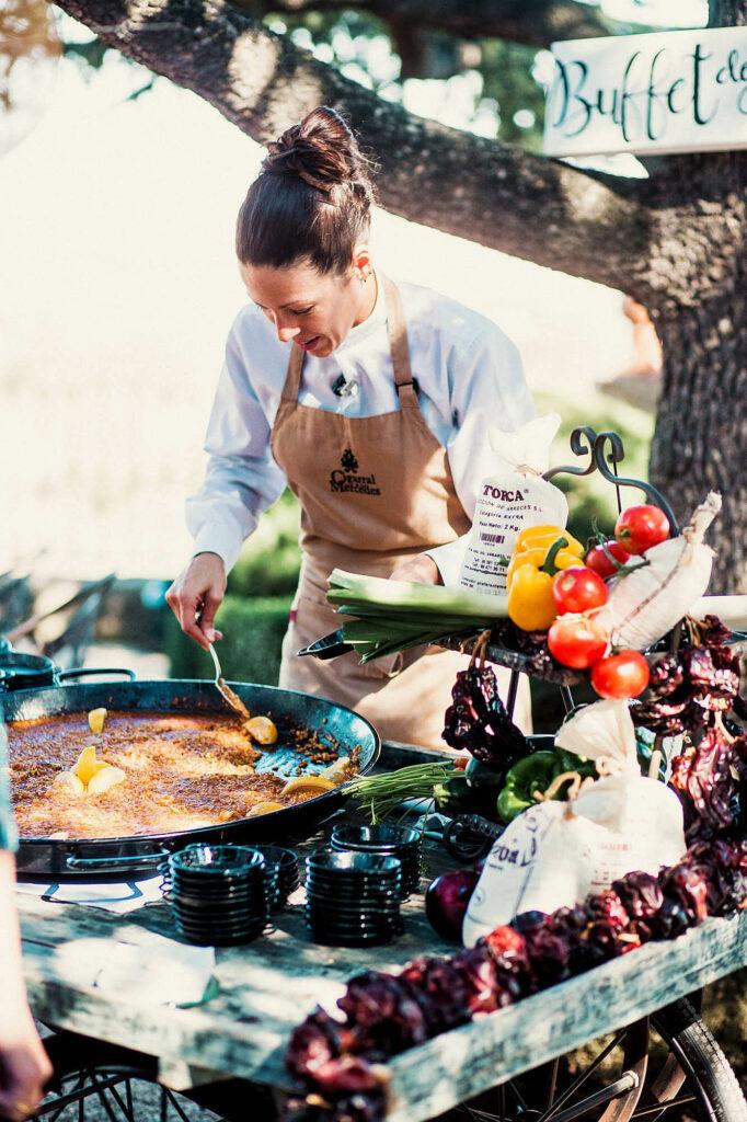 Banquete para bodas en Toledo Finca El Cigarral de las Mercedes - buffet
