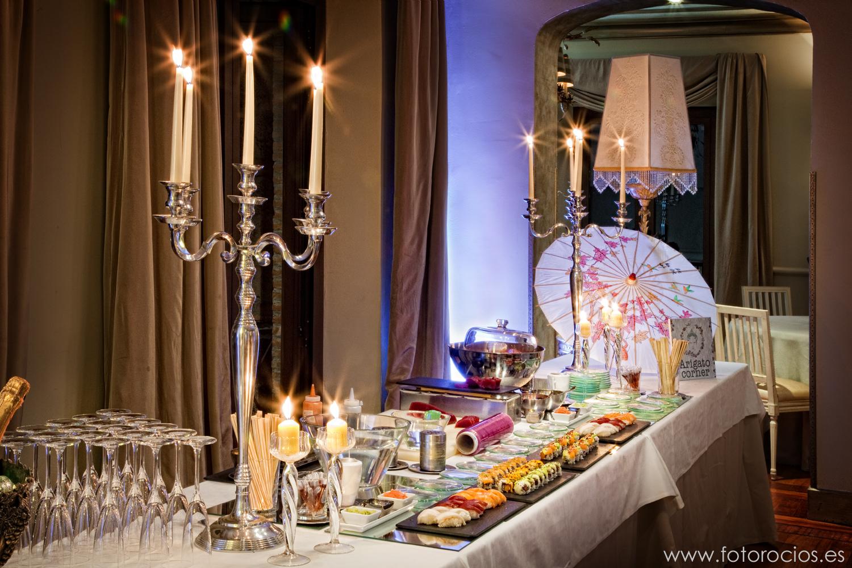 reuniones de empresa en el cigarral de las mercedes toledo cerca de madrid catering empresas y bodas Buffet asiatico