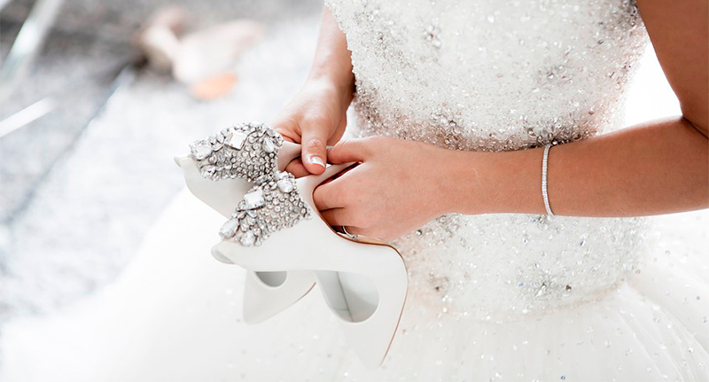 Luxury Gorgeous Ivory Wedding Shoes 2019 Leather Appliques